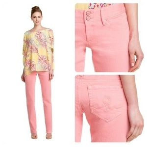 Lilly Pulitzer Pink Sherbet Worth Straight Jeans